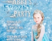 Frozen Party Printable Invitation - with Photo