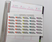 Dentist Stickers, Dentist Appointment Stickers set of 30 planner stickers for Erin Condren Life Planner, Happy Planner, & more!