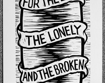 For The Lost - Linocut Print, Signed and Numbered Edition of 100