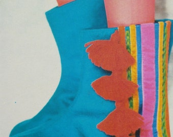 Tasseled Slippers Boots - PDF Sewing Pattern