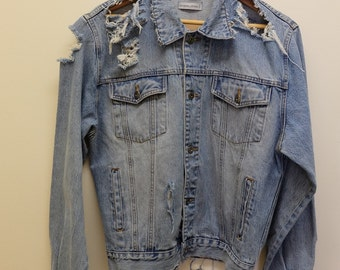 Distressed 'Boyfriend' Denim Jacket
