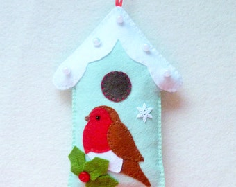 Felt Robin and Bird House PDF Sewing Pattern and Tutorial, Instant  Download, Easy Step-by-Step Instructions