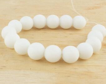 6 mm Matte white quartz • White quartz beads • White matte beads • Natural white beads • Gemstone beads • Matte white beads • Quartz beads
