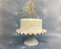 Oh Baby Cake Topper, Baby Shower Cake Topper, Baby Cake Topper, Gender Reveal Cake Topper