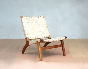 danish modern chair natural leather mid century modern lounge chair accent chair