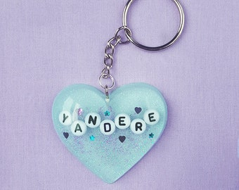 Anime Japanese 'Yandere' Handmade Resin Necklace or Keychain