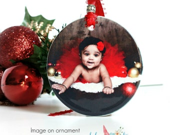 Baby's First Ornament Christmas Ornament Photo Ornament Personalized Gift Gift For Mom Gift For Dad Christmas Tree Ornament Christmas Bauble