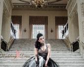 Gothic Wedding Dress / Black Wedding Dress / Vintage Inspired Gothic Wedding Dress by Award Winning Bridal Salon in New Jersey