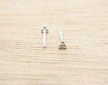 3 mm Mini Triangle Dots Stud Earrings.Three Dots.Triplet balls. 92.5%Sterling Silver.Cartilage/Nose/Piercing.Minimalist Design.Nickel free.