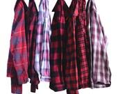 Vintage Oversize Flannel Shirt Distressed Flannels