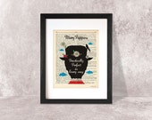 Stampa grafica Mary Poppins-stampa su dizionario d'epoca-poster Mary Poppins-decorazioni da parete-by NATURA PICTA Made in Italy-DP009