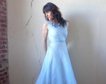pale blue lace sundress/ vintage 60s// size sm