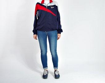 20% OFF SALE - 90s Reebok Old School Streetwear Too Cool For School Track Jacket / Size M