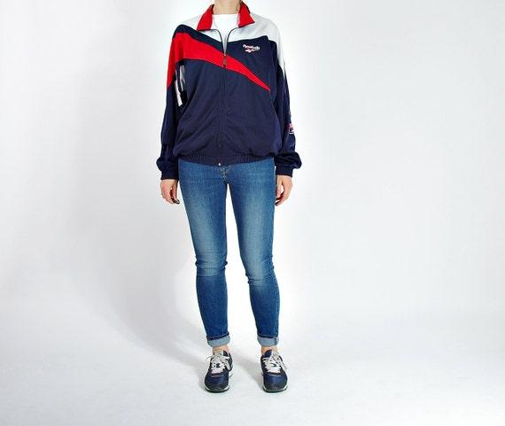 SALE - 90s Reebok Old School Streetwear Too Cool For School Track Jacket / Size M