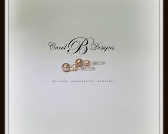 Mother of the Bride Pearl Earrings, Bridesmaid Wedding Earrings
