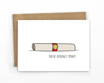 Funny Graduation Card | Congratulations Card ~ You're Officially Smart!