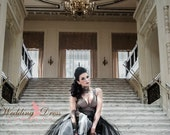 Couture Vintage Gothic Wedding Dress Retro Inspired Handmade to your measurements