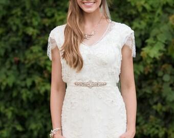 Bridal belt - bridal sash - wedding sash - vintage sash - crystal belt - vintage belt - crystal sash - wedding belt - wedding dress sash