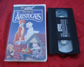 Vintage Walt Disney VHS Tape Cassette Tape Clam Shell The Aristocats