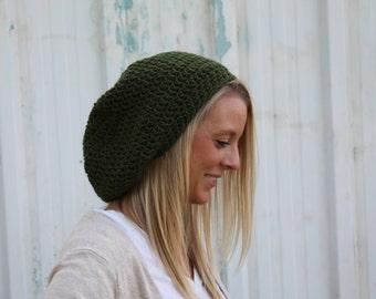 Slouchy Crochet Beanie, Slouchy Beanie, Crochet Beanie, Oversized Beanie, Crochet Hat