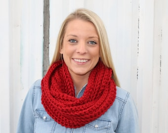 The Belle Scarf, Crochet Infinity Scarf, Cowl Scarf, Crochet Scarf, Crochet Cowl Scarf