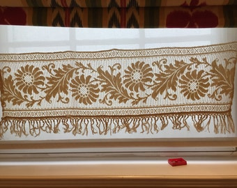 unique ecru lace curtains related items etsy