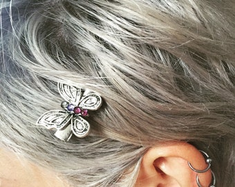 Redwolfjewelry butterfly hairclip