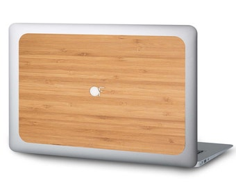 """Sticker for MacBook 11 """", 13"""" and 15 """"in bamboo wood"""
