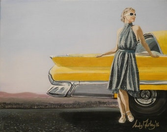 """Fine art print - """"Road trip"""" - mounted ready to frame"""