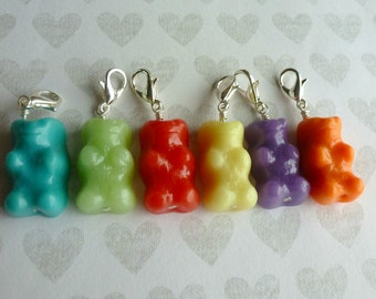 Gummy Bear Miniature Food Jewelry Dangle Charms Polymer Clay Charms