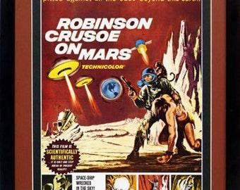 Robinson Crusoe on Mars Movie Poster Framed