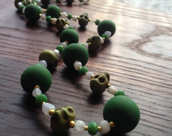 Benjin - Bright Green Statement Necklace