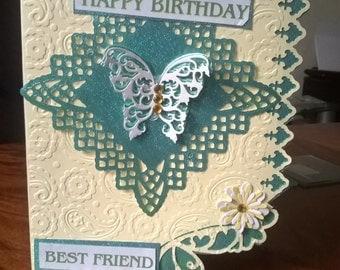 Best friend Birthday card with verse insert