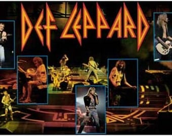 Def Leppard Live Hysteria Vintage Poster