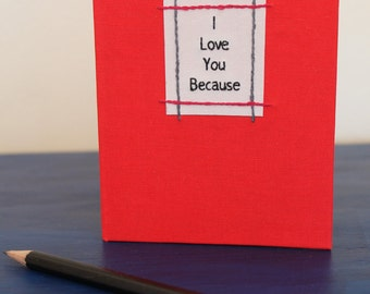 Blank Book Little Red I Love You Becasue