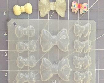 ON SALE Decoden bows mix flexible plastic mold palette