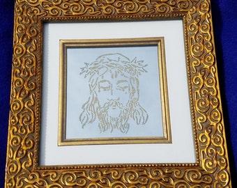 Laser Etched Mirror - Christ