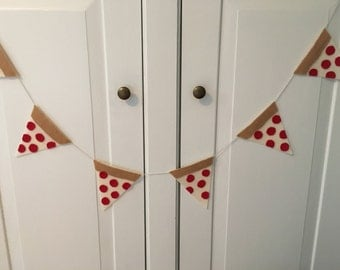 Pizza slice banner / Garland / Party / Photo Prop