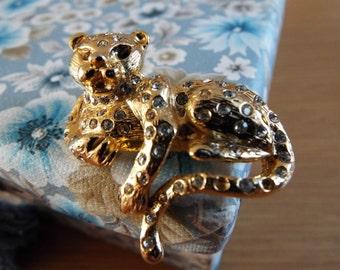 Leopard Brooch Vintage