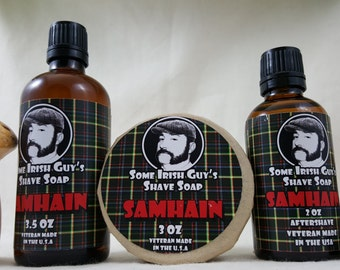 3.5 oz Samhain Aftershave....... Some Irish Guys Shave Soap