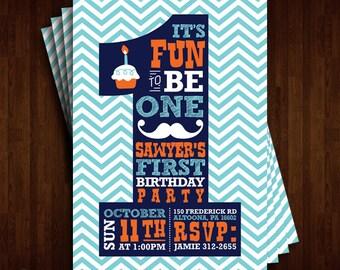 Fun to Be One 1st Birthday Invitation