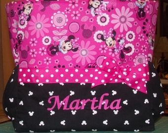 Minnie Mouse Personalized Diaper Bag