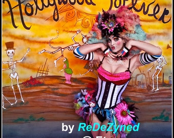 Vaudeville Showgirl Clown Steampunk Burningman