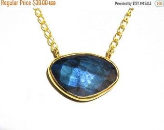 20% off Silver Pendant Labradorite , Labradorite Pendant Necklace, Blue Labradorite Gemstone Jewelry, Jewelry, Gift