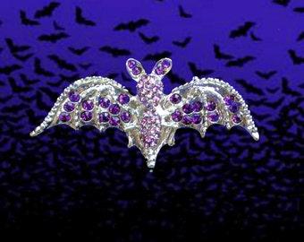 50% SALE Halloween Bat Pin..Bat Brooch..Vampire Pin..Vampire Brooch..Vampire Jewelry..Bat Jewelry..Bat Costume Accessory..Vampire Costume