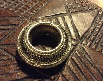 Ethiopian wedding ring,fillegrain design,Tigrai,Wollo area. 600/1000 silver