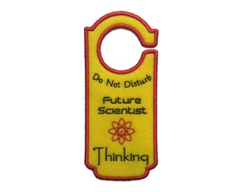 "Fancy Felt Door Hangers - ""Future Scientist Thinking"""