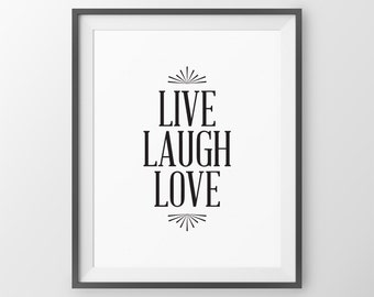Live Love Laugh Inspirational Home Decor Family Room Decor Bedroom Wall Art Bedroom Inspirational Quote Live
