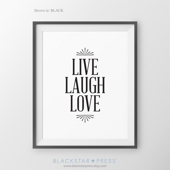 items similar to live love laugh inspirational home decor