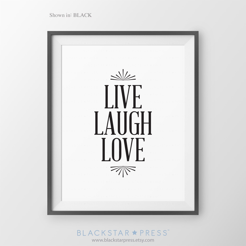 Live Love Laugh Inspirational Home Decor Family Room Decor